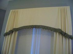 Custom Valance - Lisa Valance has gentle gathered pleats at each end of an arch shaped valance drapestudio.com