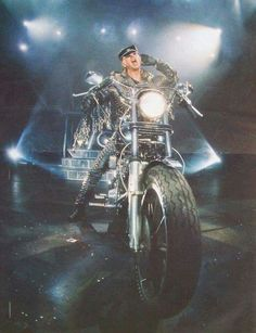 Rob Halford-Judas Priest/ when he rode his Harley onstage I cried like a baby.