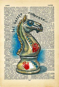 Warrior : Rhian Wyn Harrison… a knight with war paint? Old Book Art, Little Doodles, Dictionary Art, Printed Pages, Book Pages, Printable Wall Art, Amazing Art, Mystic, Decoupage