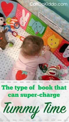 Using folding accordion-style books to help prevent Torticollis and Flat Head Syndrome & to promote Tummy Time & healthy development. CanDo Kiddo