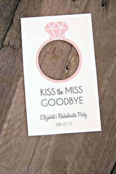 Kiss the Miss Goodbye Bridal Shower Engagement by MailmansDaughter