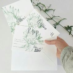 Stationery Design/Illustration by PaperAndStyleCo Bee Design, Logo Design, Graphic Design, Beautiful Wedding Invitations, Wedding Stationary, Protea Wedding, Wedding Flowers, Invitation Ideas, Invites