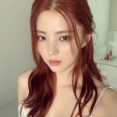Korean Hair Color, Red Hair Color, Korean Hair Dye, Hair Dye Colors, Cabelo Inspo, Red Hair Inspo, Marla Singer, Dying My Hair, Auburn Hair