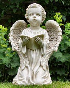 Kneeling Boy Angel Statue - Garden Ornaments Direct