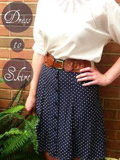 Sundress to Skirt Tutorial