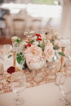 Blush looking so lovely paired with metallics #cedarwoodweddings Casually Classic Eclectic :: Libby+Tim   Cedarwood Weddings
