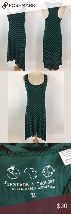 """Threads 4 Thought high low dress Waist: 30"""" Bust: 34"""" Shoulder to hem: 40.5 in front, 49.5 in back 60% organic cotton, 40% modal  Item #290 Threads 4 Thought Dresses High Low"""