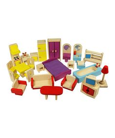 Take a look at this Doll Furniture Set by Bigjigs Toys on #zulily today!