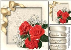 Stunning Red Roses and Babys Breath 4 on Craftsuprint - View Now!