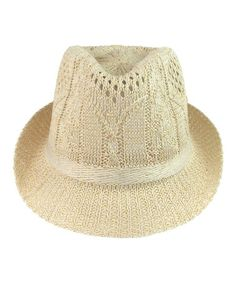 Love this Natural Woven Fedora by Capelli New York on #zulily! #zulilyfinds