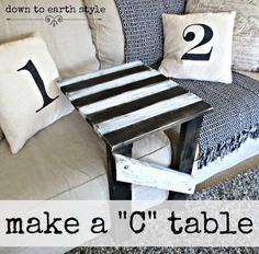 "Down to Earth Style: Make a Sofa ""C"" Table...easily!"