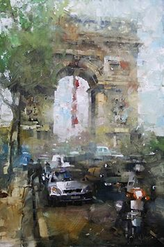 Arc de Triomphe by Mark Lague Oil ~ 24 x 16