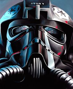 TIE Fighter Pilot by Christian Waggoner - Star Wars art Star Wars Fan Art, Star Wars Saga, Tie Fighter, Fighter Pilot, Choses Cool, Science Fiction, Nave Star Wars, Star Wars Personajes, Star Wars Images