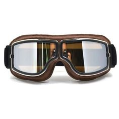 GT-011-BK-SM NEW Harley Style Motorcycle Goggles Pilot Motorbike Goggles Leather Retro Jet Helmet Eyewear