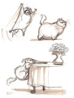 The Ol' Sketchbook: Fat Cat
