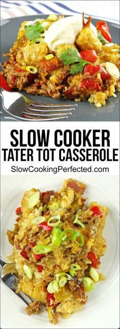 Delicious Slow Cooker Tater Tot Casserole