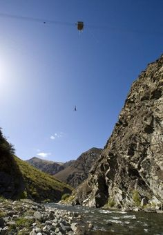 S2E10 Detour: Quick Jump or Long Hike. Nevis Bungy, Queenstown New Zealand.  Highest bungy in NZ, this is also the place where bungy jumping was pioneered in the 80s.