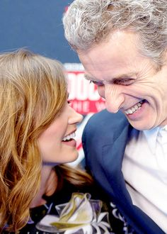 Jenna Coleman & Peter Capaldi. Peter's got some of the best laugh lines :)