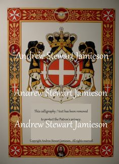 Fine Art, Photography, Coats of Arms, Heraldry, Heraldic Art & Illuminated Manuscripts by English Artist Andrew Stewart Jamieson