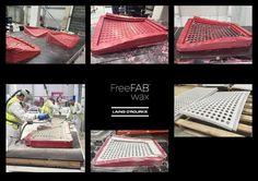 FreeFAB Wax - process from 'fast & dirty' 3D printed mould, to milled surface, spray glass reinforced concrete and then de-moulding of first panel with our industrialised construction 3D printer.  This technology out competes conventional mould making in every measure.  Tech is most suitable for bespoke production  www.freefab.com  #Construction3dPrinting #Freefab #JamesBruceGardiner #LaingOrourke #Precast #GRC