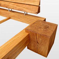 Wooden legs Topway x seat height to balcony .- Holzbeine Topway x Sitzhöhe an Balken Wooden legs Topway x seat height to beams - Bed Frame Design, Bed Design, Bed Furniture, Furniture Design, Black Bedroom Design, Diy Bett, Wood Beds, Diy Holz, Headboards For Beds