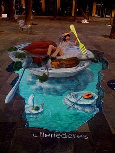 Amazing Street Art Illusions (New) ~ Alpin Funny Picture! Amazing Street Art Illusions (New) ~ Alpin Funny Picture! More from my site street art illusions by Eduardo Rolero Street Art Illusions 3d Street Art, Amazing Street Art, Street Artists, Amazing Art, Graffiti Art, Illusion Kunst, Illusion Art, Chalk Drawings, 3d Drawings
