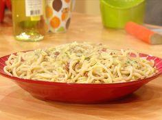 Fat Spaghetti with Bacon & Artichokes