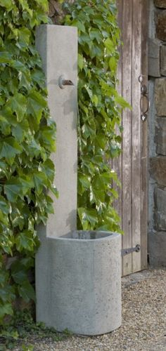 Cast stone fountains from Campania International, available in traditional and modern styles for any outdoor space. Stone Fountains, Garden Fountains, Outdoor Fountains, Wall Fountains, Fountain Garden, Garden Water, Tabletop Fountain, Indoor Fountain, Rock Fountain