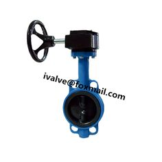 wafer type butterfly valve with actuator