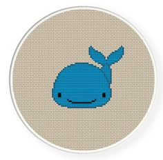 Buy 4 get 1 free ,Buy 6 get 2 free,Cross stitch pattern, PDF,whale,zxxc0091. $4.00, via Etsy.
