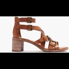Madewell Leather Sandal Heels