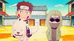 Naruto SD kiba, akamaru & shino!
