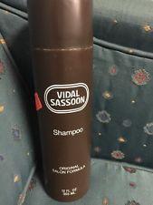 Vintage Vidal Sassoon Shampoo 1981 Bottle Some Contents