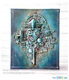 Ola Khomenok, scrapbooking, mixed media, handmade, albums, tutorials, workshop, classes, scrap