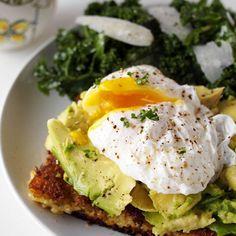 Fried Polenta, Avocado and Poached Egg Breakfast - WomansDay.com