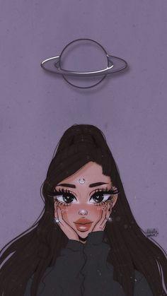Ariana Grande Anime, Ariana Grande Album, Ariana Grande Background, Ariana Grande Drawings, Ariana Grande Photoshoot, Ariana Grande Wallpaper, Cartoon Girl Drawing, Girl Cartoon, Cartoon Drawings