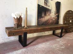 Mueble tv fabricado a medida con madera recuperada