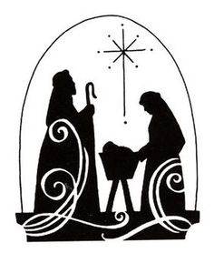 Christmas Baby Jesus <b>Nativity</b> Scene Silhouette Cross-Stitch Pattern Christmas Jesus, Christmas Nativity, Christmas Art, All Things Christmas, Christmas Holidays, Christmas Decorations, Christmas Images, White Christmas, Nativity Silhouette