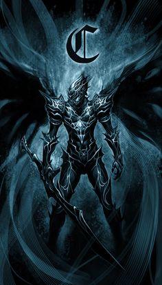 dark knight by on DeviantArt Dark Fantasy Art, Foto Fantasy, Fantasy Armor, High Fantasy, Fantasy Weapons, Arte Ninja, Ninja Art, Demon Art, Armor Concept