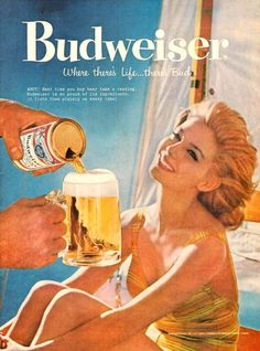 Budweiser Beer Beach Girl 1959 - Mad Men Art: The 1891-1970 Vintage…