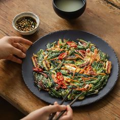 Korean Food, Japchae, Food Photo, Bread Recipes, Side Dishes, Dinner, Cooking, Ethnic Recipes, Kitchen