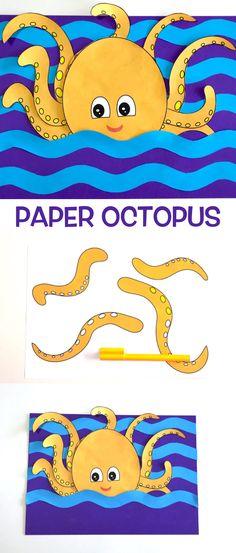 3D Paper Octopus – Make Film Play