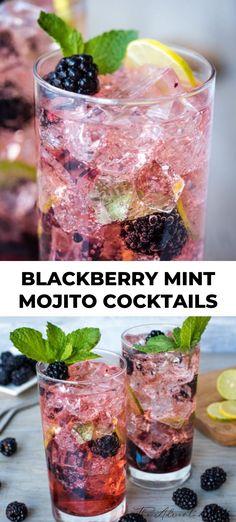 Blackberry Mint Mojito Cocktail recipe is an amazing backyard cocktail. Blackberry Mint Mojitos are full of delicious ru Mint Mojito, Mojito Cocktail, Cocktail Movie, Cocktail Sauce, Cocktail Shaker, Mojito Drink, Cocktail Food, Cocktail Ideas, Recipes