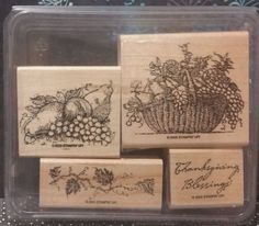 Stampin' Up! Retired THANKSGIVING BLESSINGS WM Stamps Autumn Harvest Thankful in Crafts, Stamping & Embossing, Stamps | eBay