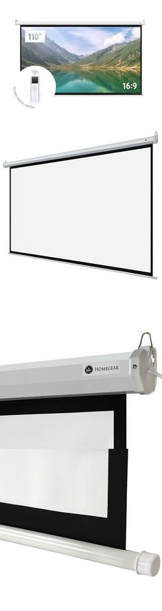 """Projection Screens and Material: Homegear 110"""" 16:9 Hd Electric Motorized Projector Screen + Remote -> BUY IT NOW ONLY: $99.99 on eBay!"""