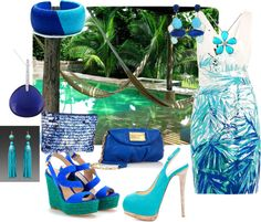 Turquoise Dream, created by samantha-edlin on Polyvore