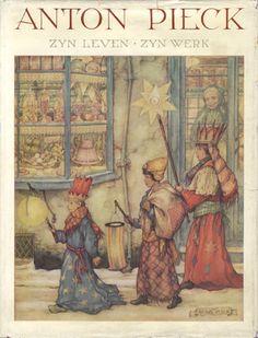 Anton Pieck. City Illustration, Christmas Illustration, Anton Pieck, Dutch Painters, Dutch Artists, Winter Scenes, Pretty Pictures, Art Lessons, Fairy Tales