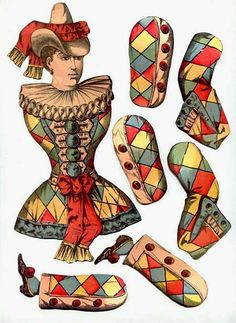 Vintage paper doll. We made these at home -- so fun!!!