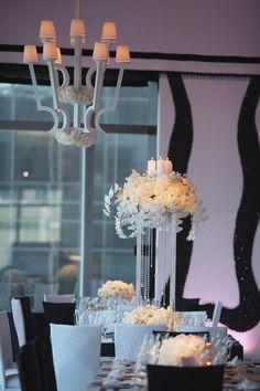 High Floral Arrangement Dinner Reception   Weddings by MWD Lifestyles