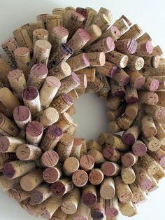 Unique Wine Cork Wreath 16 Diameter Wedding by LizzieJoeDesigns